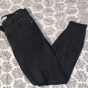 Oasis cropped ankle black jeans
